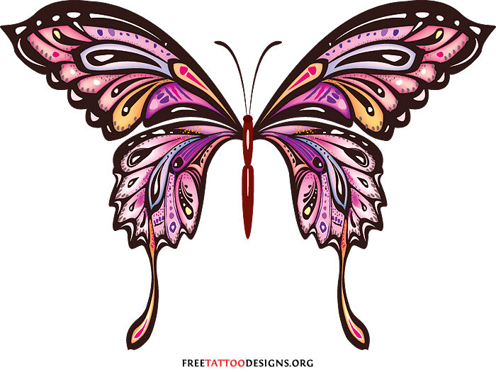 Pink Rose clipart pink black butterfly Butterfly Black photo#23 Pink Clipart
