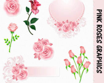 Pink Rose clipart pink gold Gold Roses on Clip Art