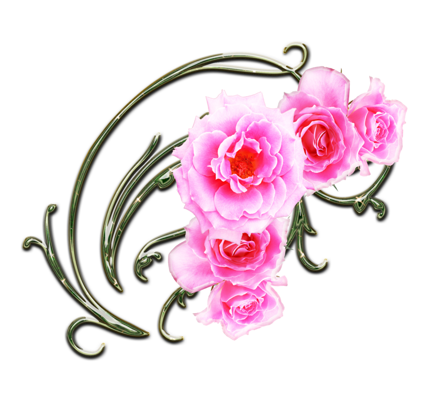 Pink Rose clipart pink gold Clipart by Art More Clip