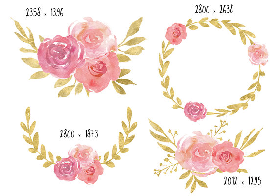Pink Rose clipart pink gold This pink a file is