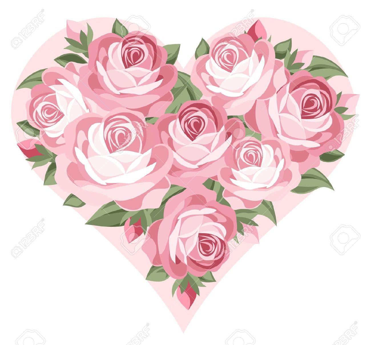 Pink Rose clipart pink heart Pinterest  Heart Roses roses