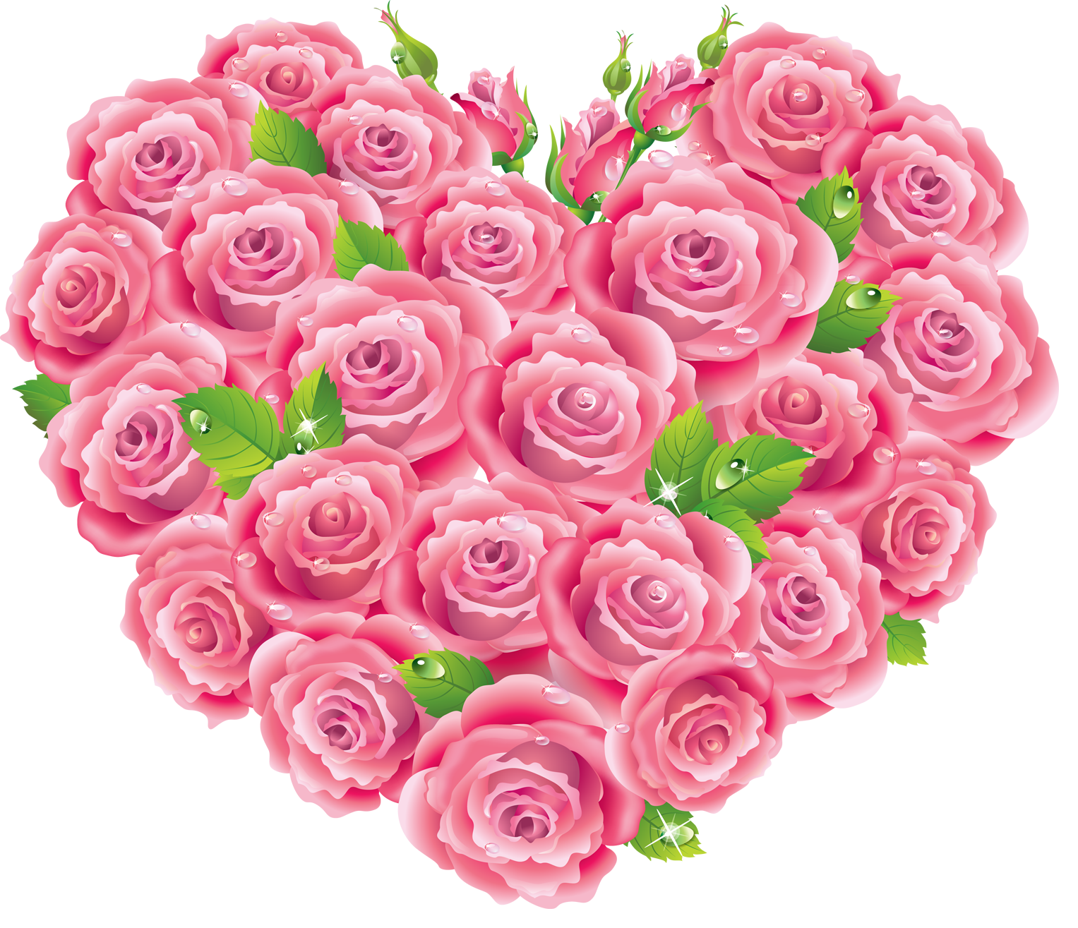 Pink Rose clipart pink heart High  download Clipart Roses