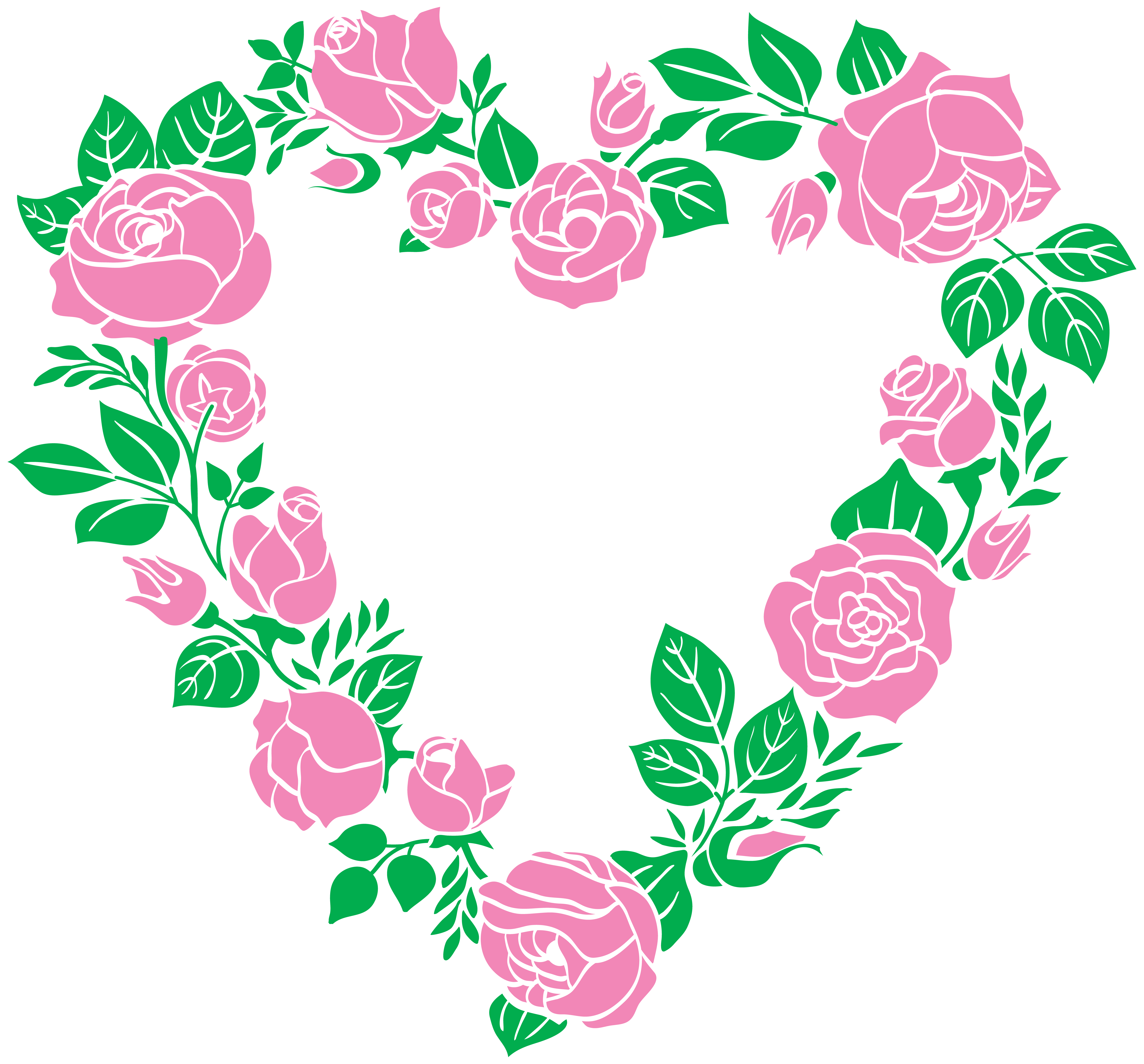Pink Rose clipart pink heart Yopriceville PNG Art is Rose