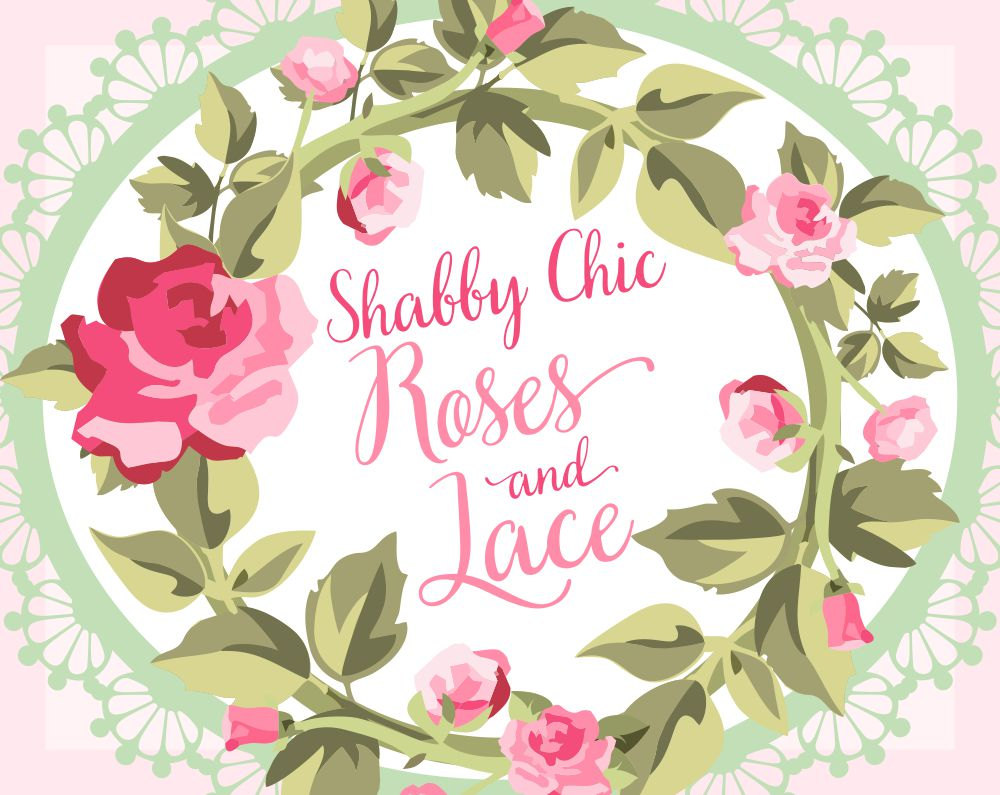 Wreath clipart shabby chic Clipart Clipart Rose Lace Clipart
