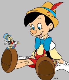 Pinocchio clipart walt disney LMI Pinterest Cricket Pinocchio on