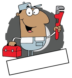 Pipe clipart cartoon Clipart and Plumber Wrench Toolbox