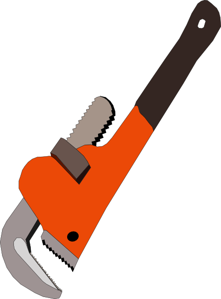 Pipe clipart cartoon Art Wrench com vector public
