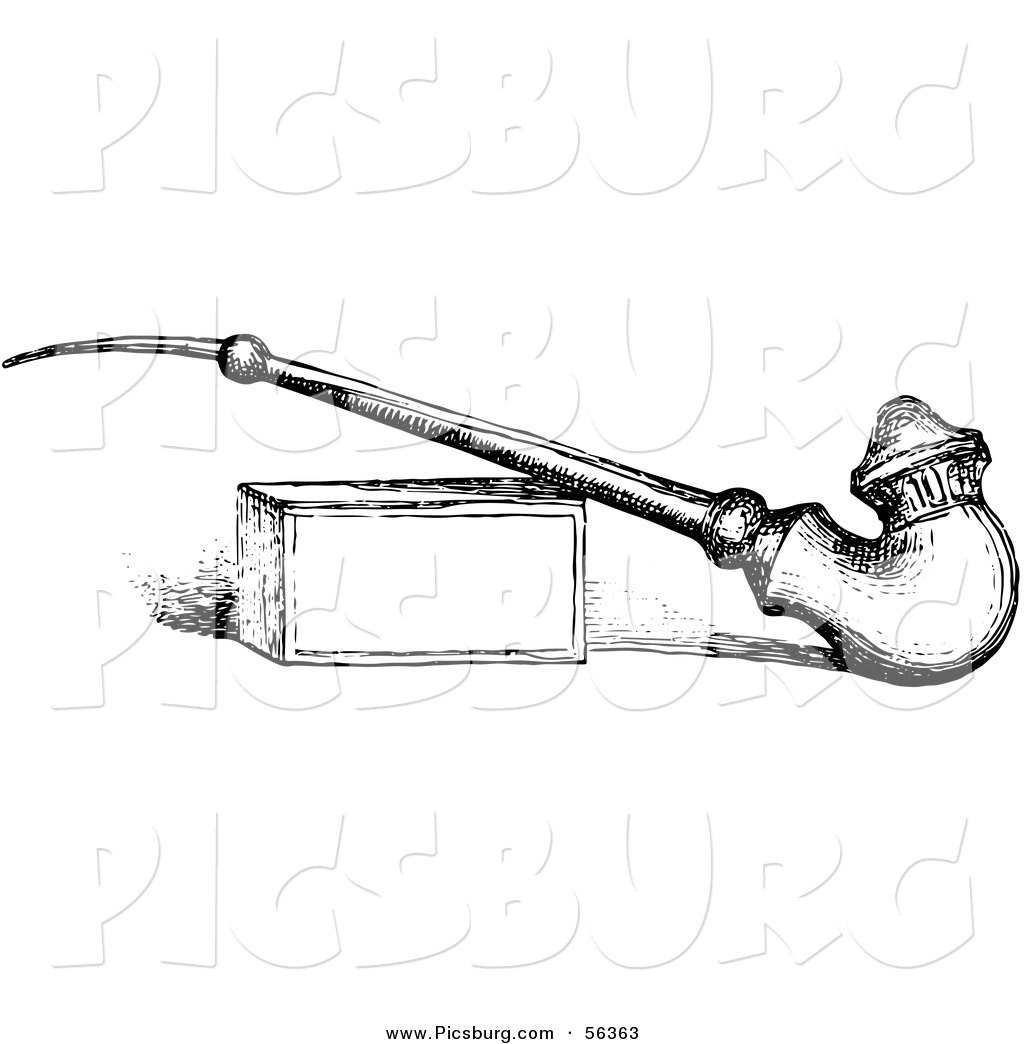 Pipe clipart old fashioned Old Fashioned Vintage an White
