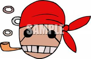 Pipe clipart pirate With Red Clipart A Red