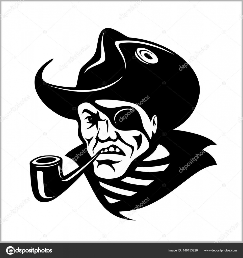 Pipe clipart pirate With by with Angry portrait