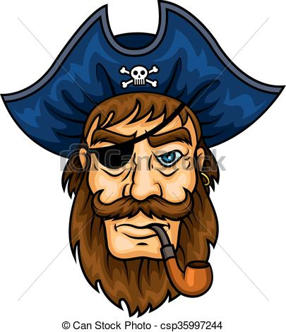 Pipe clipart pirate Captain with Cartoon smoking