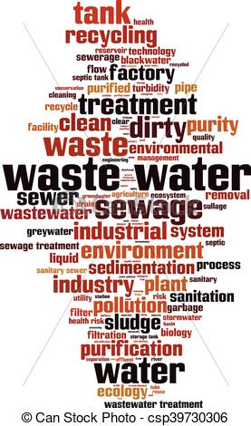 Pipe clipart wastewater treatment Vector eps Waste water vertical