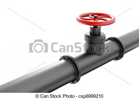 Pipeline clipart oil pipeline Stock red pipe Black valve