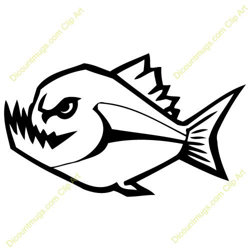 Piranha clipart #9