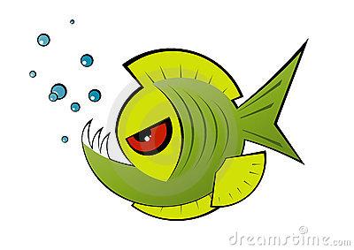 Piranha clipart #7