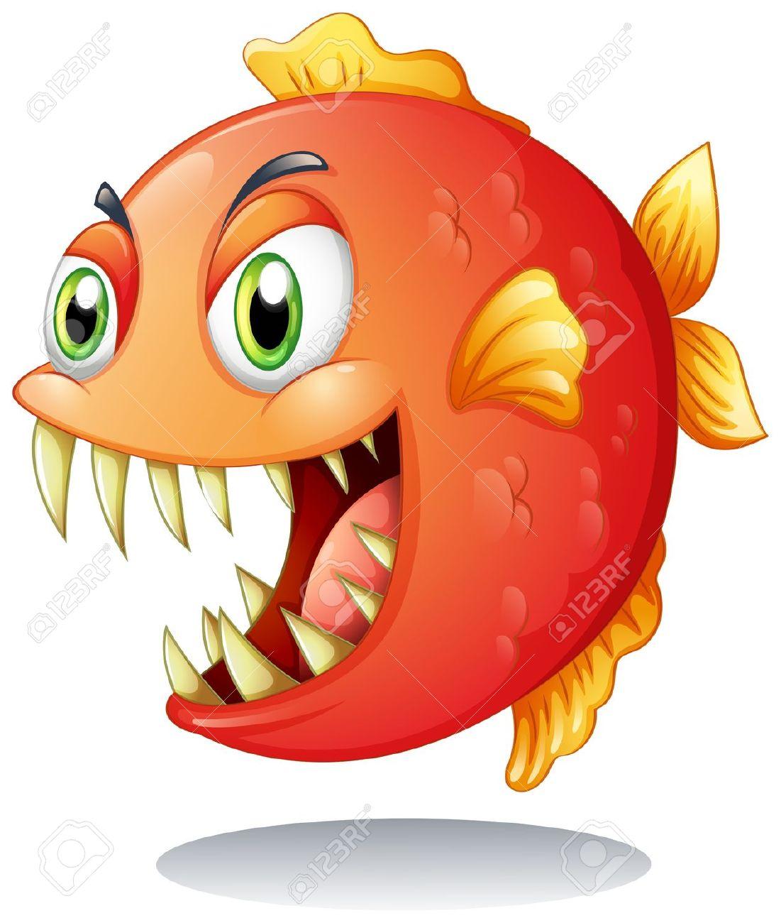 Piranha clipart #12