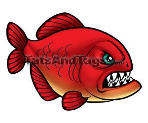 Piranha clipart #14