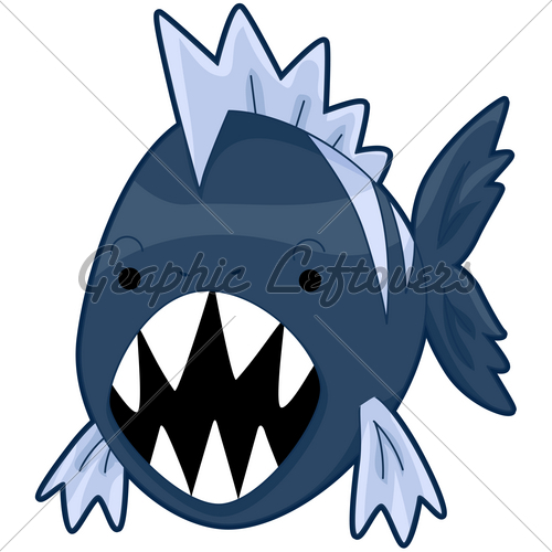 Piranha clipart #13