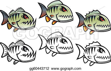 Piranha clipart angry Angry collection clipart cartoon fish