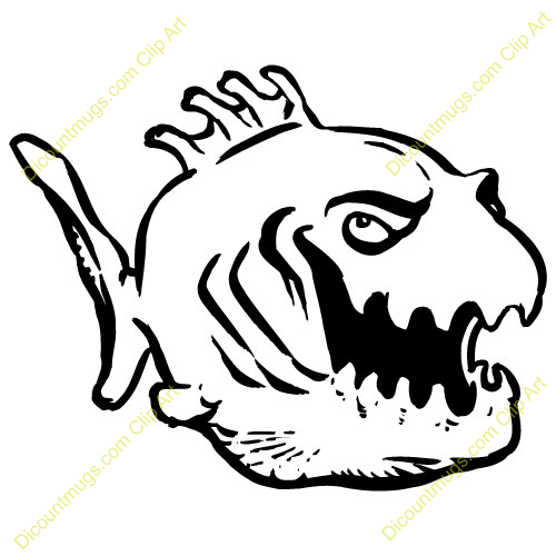 Piranha clipart angry Art Clipart Free Panda Images