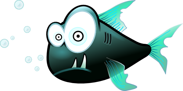 Piranha clipart cute Fish Cartoon vector art online
