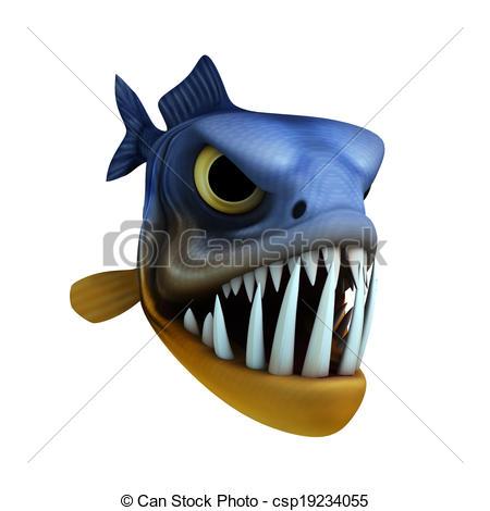 Piranha clipart cute Piranha and of art Illustrations