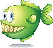 Piranha clipart cute Cartoon Art GoGraph Piranha ·