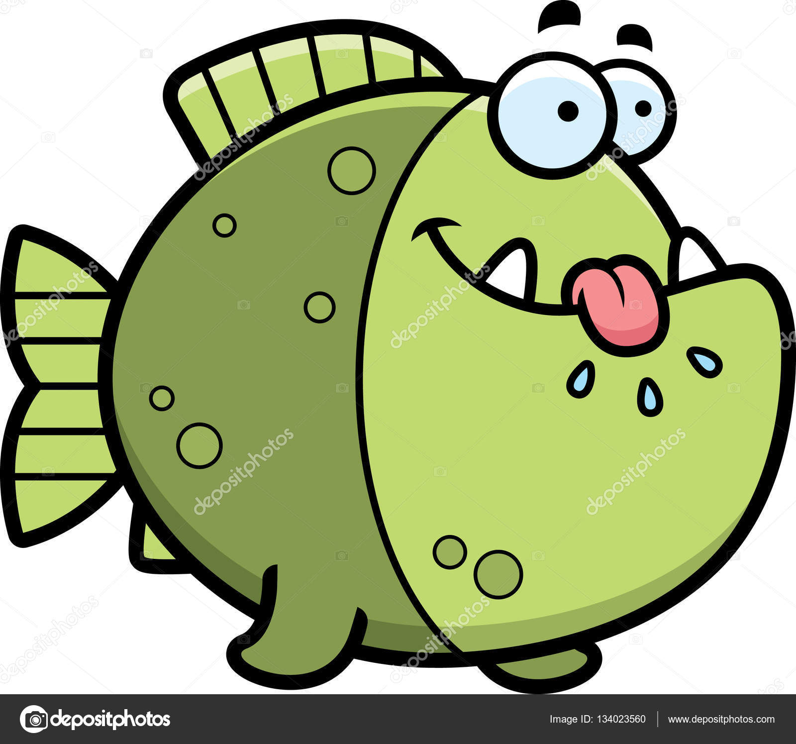 Piranha clipart hungry Vector of by cartoon —