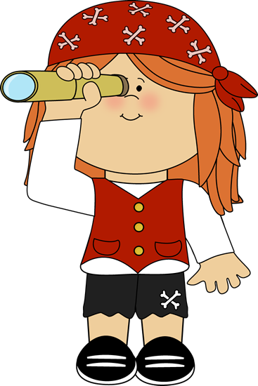 Pirate clipart turtle Telescope Girl with Pirate Pirate