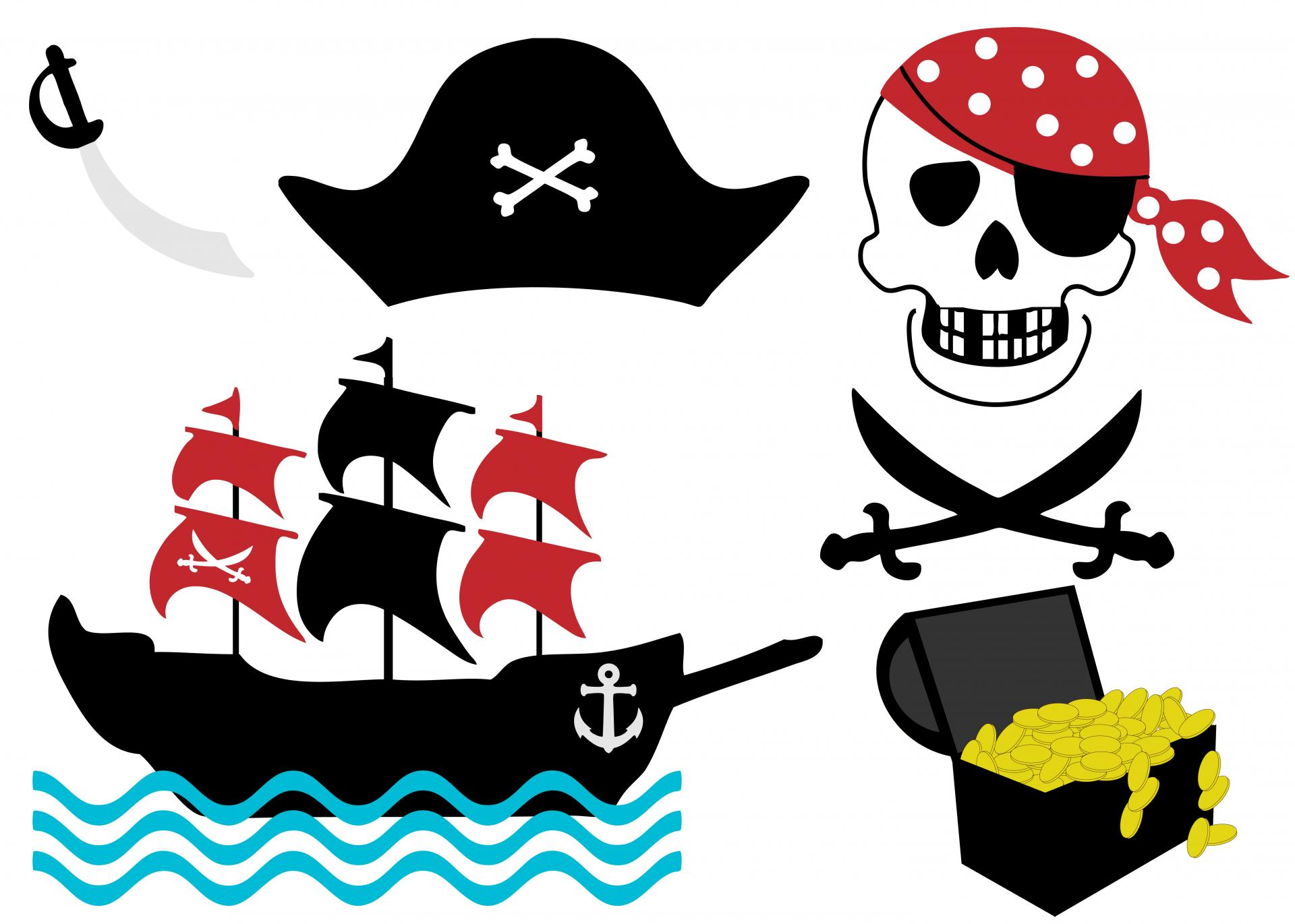 Pirate clipart pirate patch Domain Free Clip Pirate Pictures