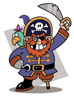 Pirate clipart argh #2
