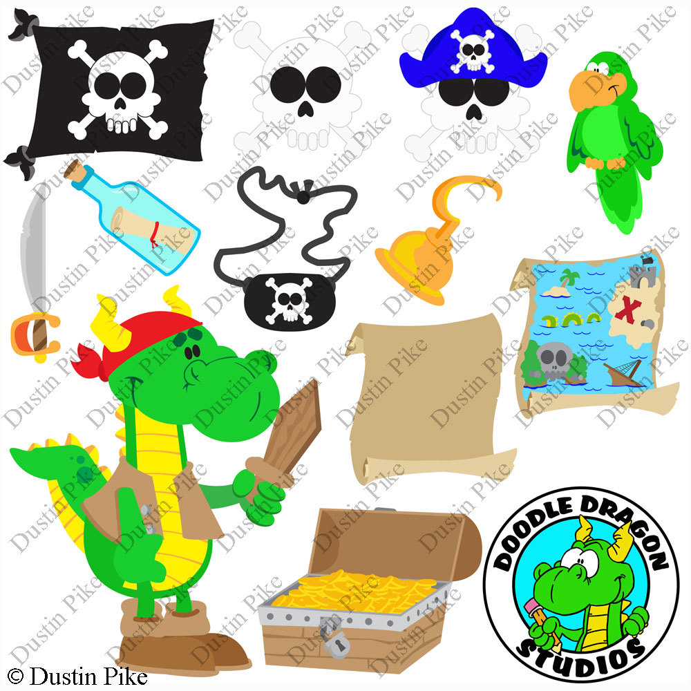 Pirate clipart argh Digital This a Commercial file