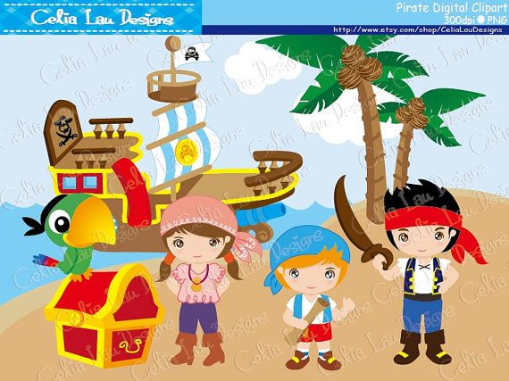 Pirate clipart background Images Neverland includes are PERFECT