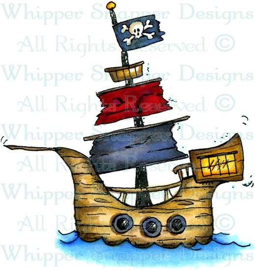 Sailing Ship clipart pirate the caribbean Pirate Stamps Rubber Ship Pirate