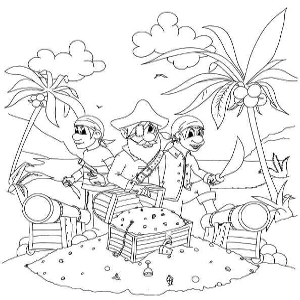 Pirate clipart beach On pirates Art and Kids