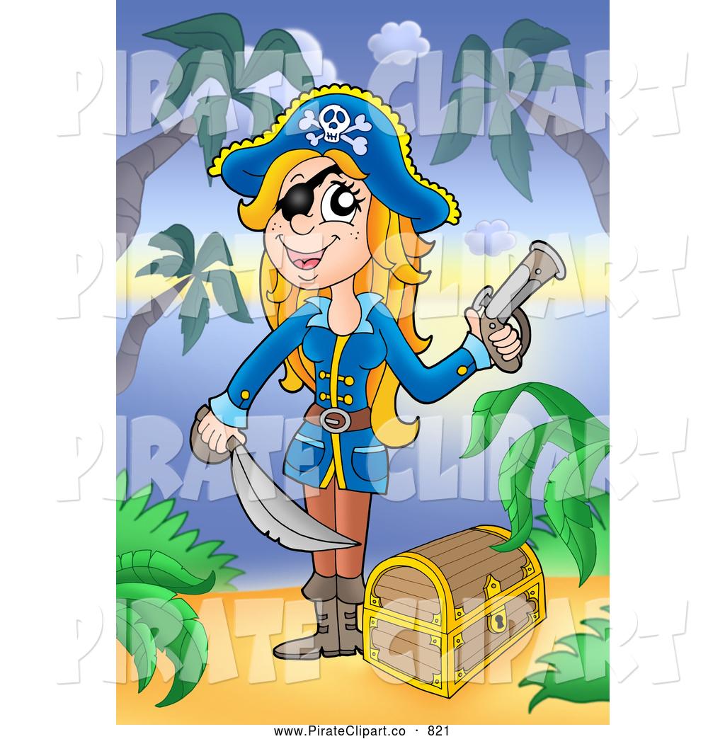 Pirate clipart beach A Blond and Art Clip