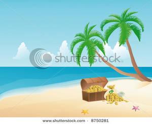 Pirate clipart beach #10