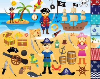 Pirate clipart beach For boys Pirate 54 Papers
