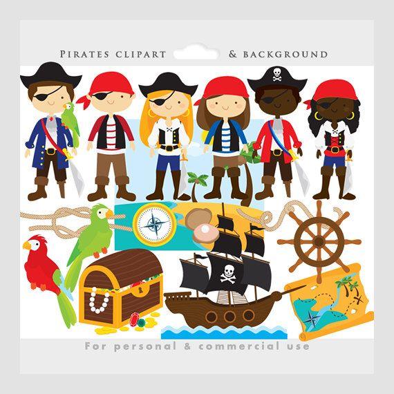 Pirate clipart beach #5