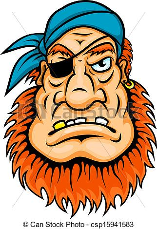 Pirate clipart bearded #9