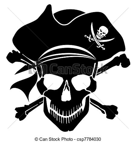 Pirate clipart bearded  Pirate Cross Pirate Stock
