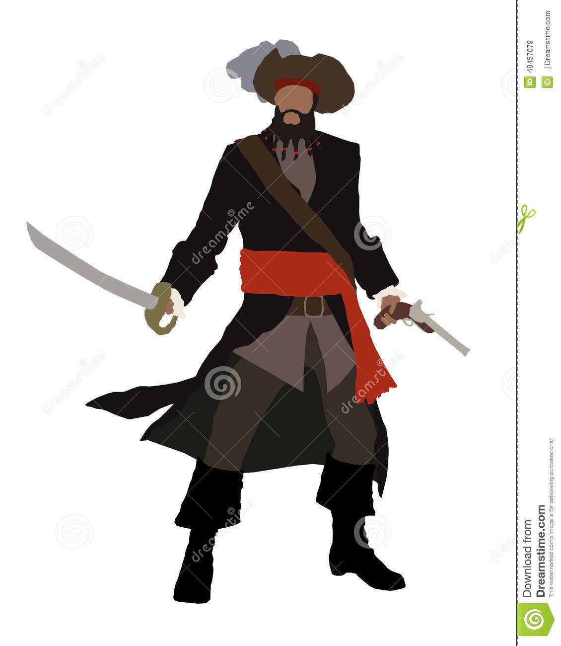 Pirate clipart bearded Black clipart Beard beard collection