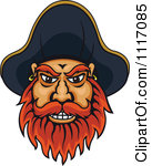 Pirate clipart bearded #1