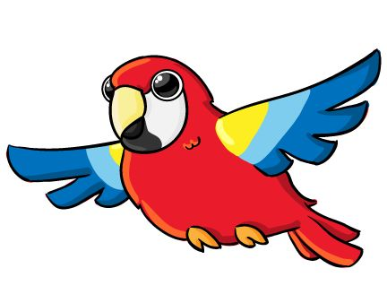 Scarlet Macaw clipart animated #2