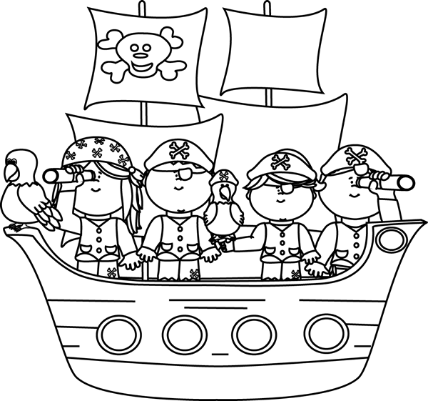 Pirate clipart black and white White Clip Images Pirates Pirate