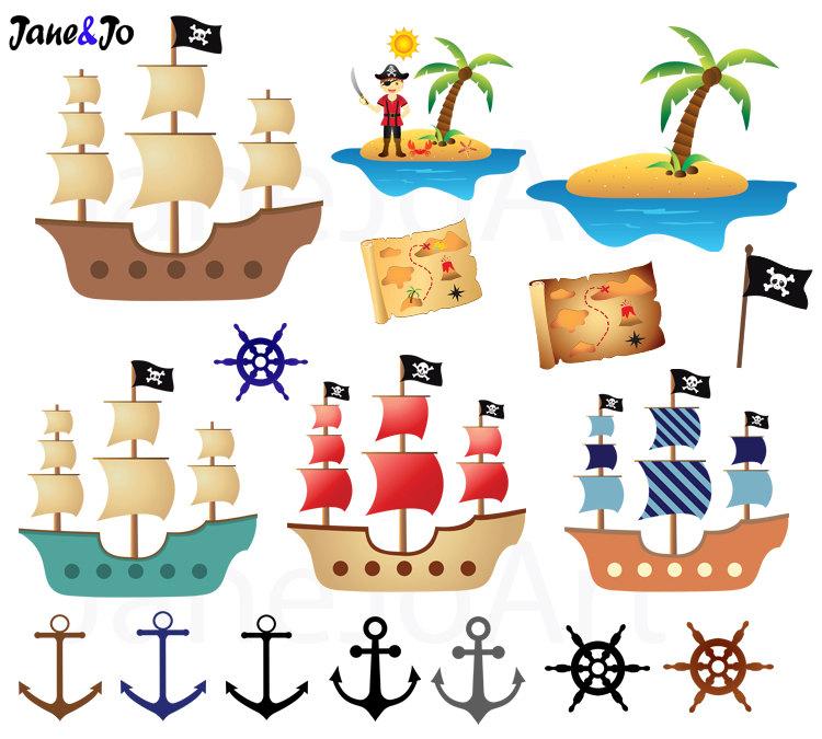 Anchor clipart pirate ship 12 + clip clipart Pirate