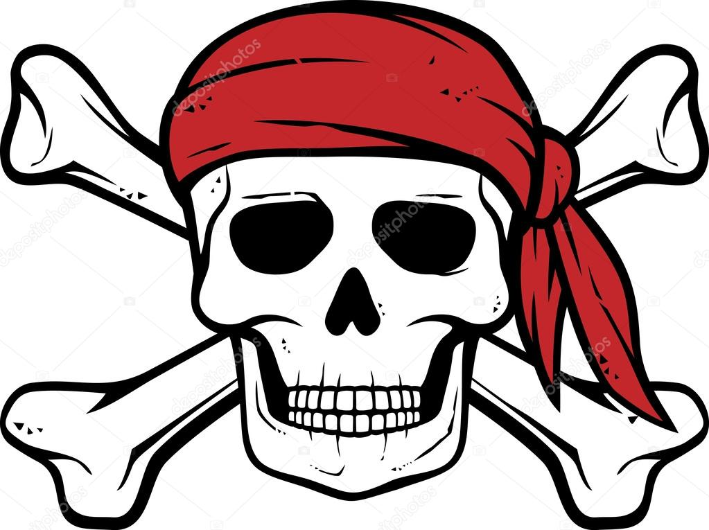 Pirate clipart bone Skull bones Vector — Pirate