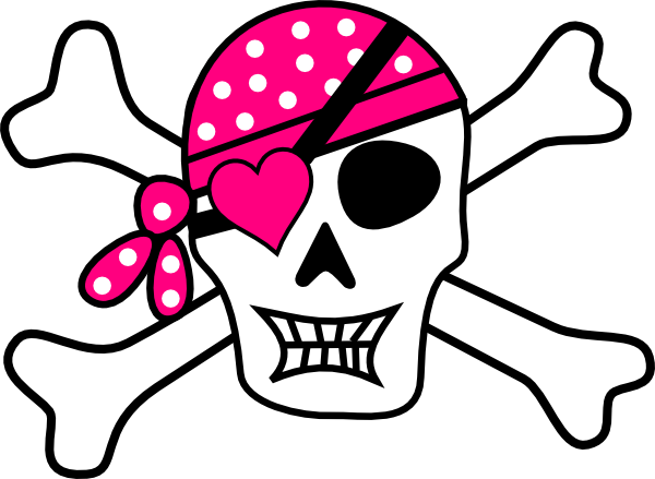 Bones clipart pink Pirate art Pirate pirate Bones