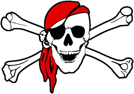 Pirate clipart bone #1