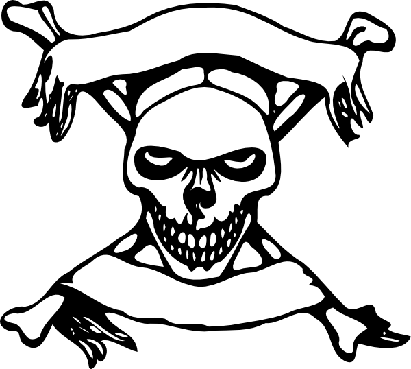 Bones clipart pirate Crossbone and Xbones with Banners